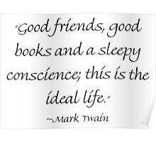 Good Friends, Good Books & A Sleepy Conscience Poster