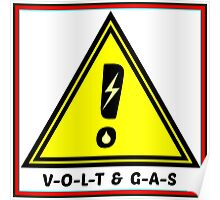 Volt & Gas Safety Sign Warning Poster