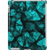 Fractal art black and turquoise iPad Case/Skin