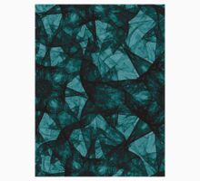 Fractal art black and turquoise Kids Clothes