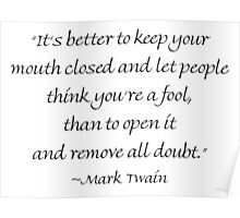 Keep Your Mouth Closed Poster
