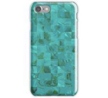 Tiffany Aqua Blue Mother of Pearl Mosaic Grid iPhone Case/Skin