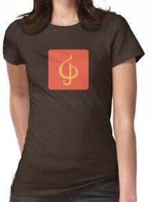 Sazabi Treble Clef Womens Fitted T-Shirt