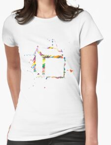 navy abstract hoody Womens Fitted T-Shirt