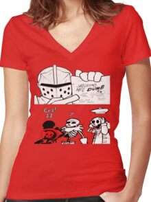 Bad Skeleton Women's Fitted V-Neck T-Shirt
