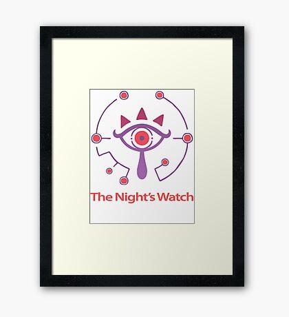 The Night Watch of Hyrule Zelda breath of the wild Framed Print