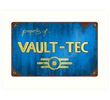 Metal Vault Sign Art Print