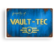 Metal Vault Sign Canvas Print