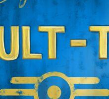 Metal Vault Sign Sticker