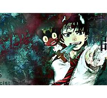 rin and his rising sun head band Photographic Print