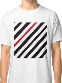 Black and red lines Classic T-Shirt
