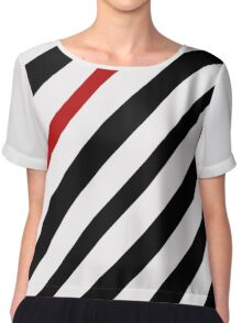 Black and red lines Chiffon Top