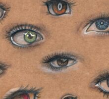 A Collage of Eyes Sticker