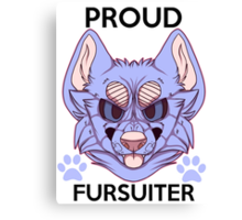 Proud Fursuiter T-shirt (REMADE) Canvas Print