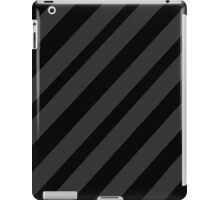 Black and gray elegant lines iPad Case/Skin