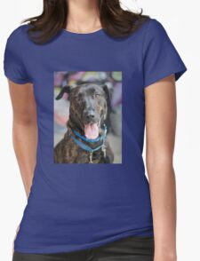 Happy Dog 2 Womens Fitted T-Shirt