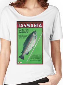 Vintage Tasmania Travel Poster Women's Relaxed Fit T-Shirt