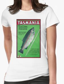 Vintage Tasmania Travel Poster Womens Fitted T-Shirt