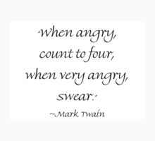 When Angry Count to Four by Amantine