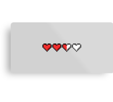 Two and a Half Hearts Remaining Metal Print