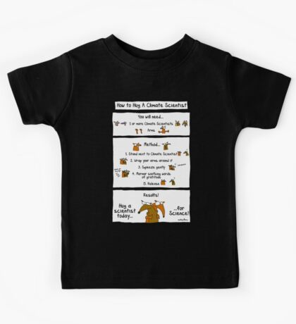 How To Hug A Climate Scientist Kids Tee