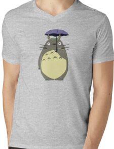 totoro umbrela Mens V-Neck T-Shirt