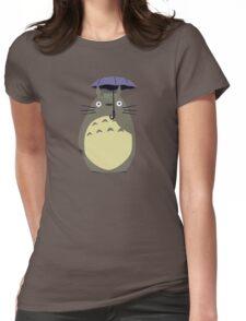 totoro umbrela Womens Fitted T-Shirt