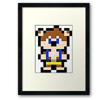 Pixel Banjo Framed Print