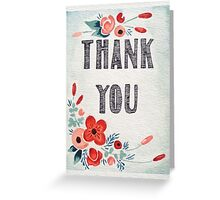 Thank You - Posies (Vertical) Greeting Card