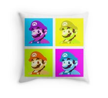 Worholian Game God Throw Pillow
