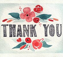 Thank You - Posies (Horizontal) by MarenMay