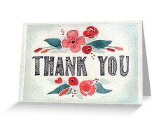 Thank You - Posies (Horizontal) Greeting Card