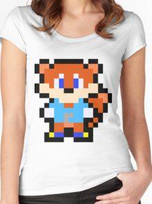 Pixel Conker Women's Fitted Scoop T-Shirt