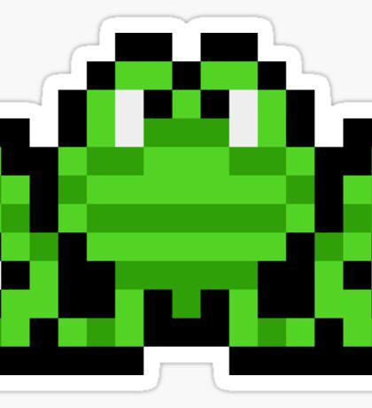 Pixel Frogger Sticker