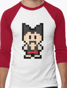 Pixel Heihachi Mishima Men's Baseball ¾ T-Shirt