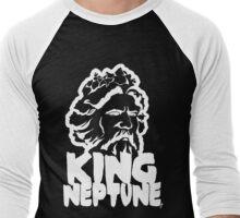 King Neptune Head - White  Men's Baseball ¾ T-Shirt