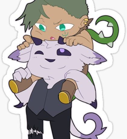 Flora and Butch Sticker