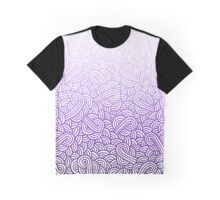 Gradient purple and white swirls doodles Graphic T-Shirt