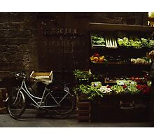 Bike and Veggies Photographic Print