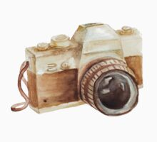 watercolor camera Kids Tee