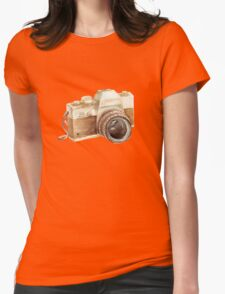 watercolor camera Womens Fitted T-Shirt