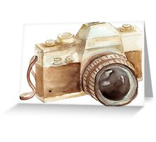 watercolor camera Greeting Card