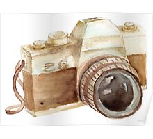 watercolor camera Poster