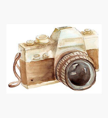 watercolor camera Photographic Print