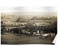 Old Railway Bridge, Dusk—Bushy Park, Tasmania Poster