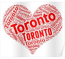 Toronto - Red Heart Poster