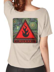 Ω Welding Fire Triangle Ω Women's Relaxed Fit T-Shirt