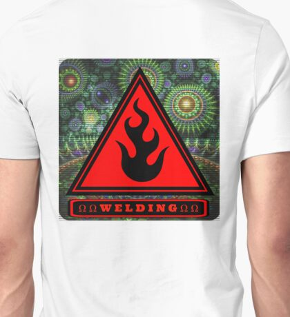Ω Welding Fire Triangle Ω Unisex T-Shirt