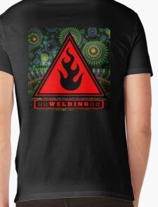 Ω Welding Fire Triangle Ω Mens V-Neck T-Shirt