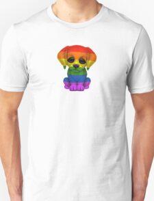 Cute Gay Pride Rainbow Flag Puppy Dog T-Shirt